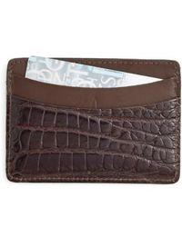 Martin Dingman - 'joseph' Genuine American Alligator Card Case - - Lyst