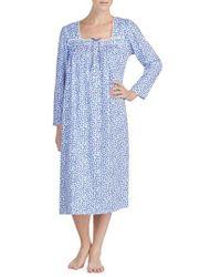 Eileen West - Cotton Nightgown - Lyst