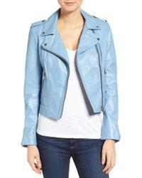 Lamarque - Donna Lambskin Leather Moto Jacket - Lyst