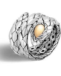 John Hardy - Legends Cobra Double Coil Ring - Lyst