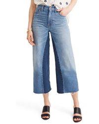 Madewell - Gusset Crop Wide Leg Jeans - Lyst