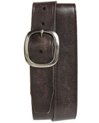 John Varvatos | Distressed Leather Belt | Lyst