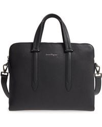 Ferragamo - Firenze Leather Briefcase - Lyst