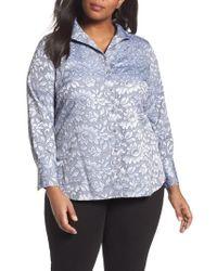Foxcroft   Rhonda Lace Jacquard Shirt   Lyst