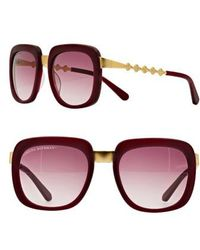 Freida Rothman | 'serena' 57mm Square Sunglasses - Wine | Lyst