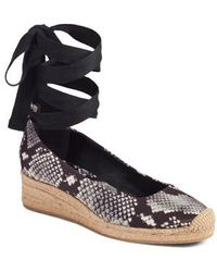 Tory Burch - Heather Ankle Wrap Espadrille Wedge - Lyst