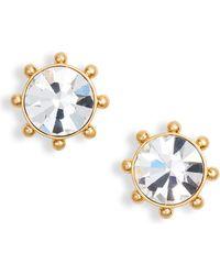 Kate Spade - Flying Colors Bezel Stud Earrings - Lyst