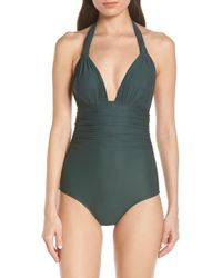 37d1d61d1cfff La Blanca Island Goddess Adjustable Arm Coverage Over The Shoulder Mio  One-piece Swimsuit (black) Women's Swimsuits One Piece in Black - Lyst