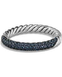 David Yurman - 'Pave' Ring With Sapphires - Lyst