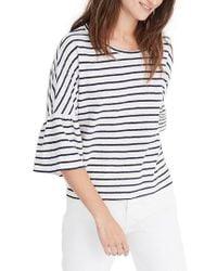 Madewell - Stripe Flare Sleeve Tee - Lyst
