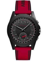 Armani Exchange - Connected Silicone Strap Hybrid Smart Watch - Lyst
