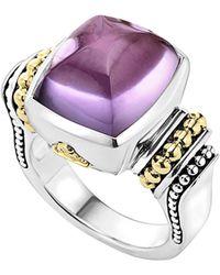 Lagos - 'caviar Color' Medium Semiprecious Stone Ring - Lyst