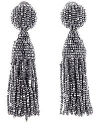 Oscar de la Renta | 'classic Short' Tassel Drop Earrings | Lyst