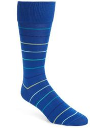 Calibrate - Gradient Pinstripe Socks - Lyst