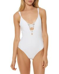 Red Carter | Strappy Plunge One-piece Swimsuit | Lyst