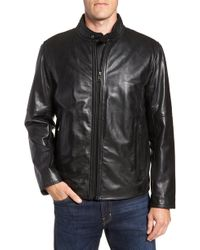 Andrew Marc - Emerson Lightweight Leather Moto Jacket - Lyst