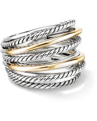 David Yurman Crossover Wide Ring With 18k Gold - Metallic