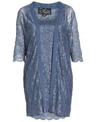 Alex Evenings - Lace Sheath Dress With Jacket - Lyst