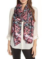 Kate Spade | Tapestry Silk Oblong Scarf | Lyst