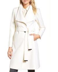 474239c5b431f0 Lyst - Ted Baker Elethea Short Belted Coat in Natural