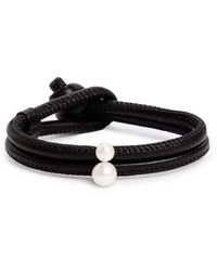 Mizuki - Leather & Akoya Pearl Bracelet - Lyst