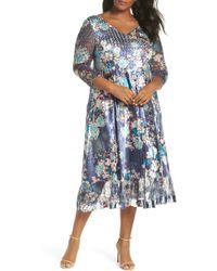 e9ea85f0f3 Komarov - Print Charmeuse   Chiffon A-line Dress - Lyst