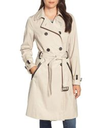 Sam Edelman - Packable Trench Coat, Beige - Lyst