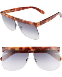 Courreges - The Mask 66mm OverBrown Havana/ Blue Gradient - Lyst