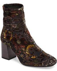 Hispanitas - Portia Floral Stretch Velvet Bootie - Lyst