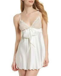 Samantha Chang - Tie Front Babydoll Chemise - Lyst