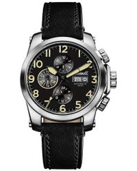 INGERSOLL WATCHES | Ingersoll Manning Automatic Leather Strap Watch | Lyst
