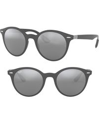 Ray-Ban - Phantos 50mm Mirrored Sunglasses - - Lyst
