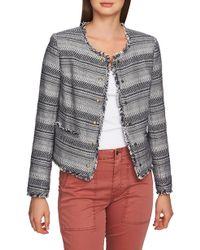 1.STATE - Rustic Fringe Tweed Jacket - Lyst
