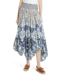 Free People - Roaming Wild Midi Skirt - Lyst