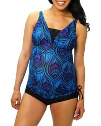 Mermaid Maternity - Tankini Top - Lyst
