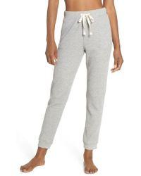 Skin - Edie Waffle Knit Lounge Pants - Lyst