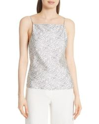 Theory - Summer Wave Cowl Back Silk Camisole - Lyst
