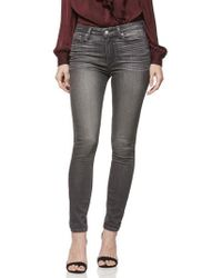 PAIGE - Hoxton Transcend High Waist Skinny Jeans - Lyst