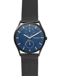 Skagen - Holst Multifunction Mesh Strap Watch - Lyst
