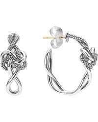 Lagos - 'love Knot' Hoop Earrings - Lyst