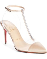 25d1fa2fa03 Lyst - Christian Louboutin Nosy 100 Patent Pump in Pink