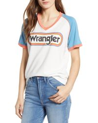 Wrangler - Logo Graphic Tee - Lyst 019c0e551