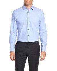Calibrate - Trim Fit Stretch Solid Dress Shirt - Lyst