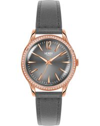 Henry London - Finchley Leather Strap Watch - Lyst