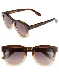 Wildfox - 'classic Fox' 50mm Retro Sunglasses - Sundown/ Smoke Gradient - Lyst
