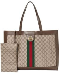 110dcb4ac22b Gucci Ophidia East West Leather-trimmed Printed Coated-canvas Tote ...