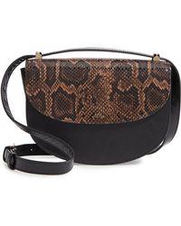A.P.C. - Sac Geneve Snake Embossed Leather Shoulder Bag - Lyst