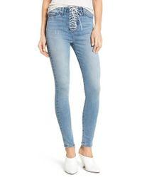 Hudson Jeans - Bullocks Lace-up High Waist Super Skinny Jeans - Lyst