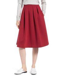 Nordstrom - 1901 Full Neoprene Skirt - Lyst