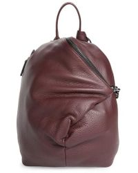 Vince Camuto - Small Giani Leather Backpack - Burgundy - Lyst